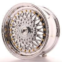 Jantes 15 Pouces 4 jantes 15 JR9 15x7 ET20 4x100-108 Chrome Japan Racing