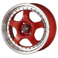 Jantes 15 Pouces Jante 15 DR46 15x7 ET40 4x100 Rouge - Drag Wheels