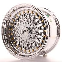 Jantes 15 Pouces Jante 15 JR9 15x8 ET20 4x100-108 Chrome Japan Racing