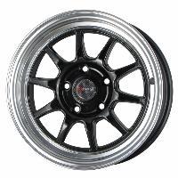 Jantes alu Jante 15 DR16 15x7 ET40 5x114.3 Noir - Drag Wheels