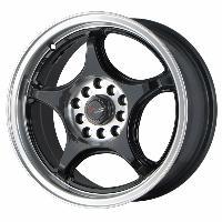 Jantes alu Jante 15 DR17 15x7 ET40 5x100-114.3 Noir - Drag Wheels