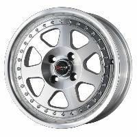 Jantes alu Jante 15 DR27 15x7 ET40 4x100 Poli - Drag Wheels