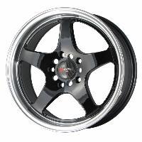 Jantes alu Jante 16 DR24 16x7 ET40 5x114.3 Noir - Drag Wheels