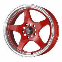 Jantes alu Jante 16 DR24 16x7 ET40 5x114.3 Rouge - Drag Wheels