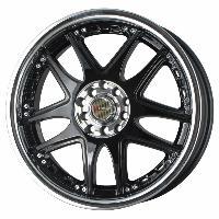 Jantes alu Jante 17 DR14 17x7 ET40 5x100-114.3 Noir - Drag Wheels