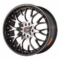 Jantes alu Jante 17 DR19 17x7.5 ET45 5x100-114.3 Argent Noir - Drag Wheels