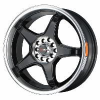 Jantes alu Jante 17 DR8 17x7 ET40 4x100-114.3 Noir - Drag Wheels
