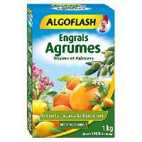 Jardinage ALGOFLASH Engrais Agrumes. Olivers et Palmiers - 1kg