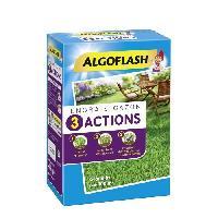 Jardinage ALGOFLASH Engrais gazon 3 actions - 4 kg jusqu'a 100m2