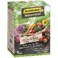 Jardinage ALGOFLASH NATURASOL Engrais contenant de la corne torrefiee et sang Seche - 3 kg