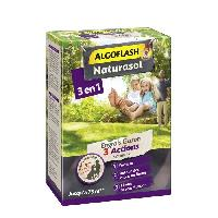 Jardinage ALGOFLASH NATURASOL Engrais gazon 3 actions Naturanid - 3 kg