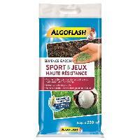 Jardinage ALGOFLASH Semences gazon terrain de sport et jeux - Haute résistance - 5 Kg