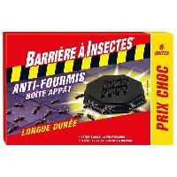 Jardinage BARRIERE A INSECTES Anti-Fourmis boîte appât - Etui de 6 boîtes - Prix Choc