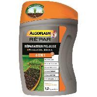 Jardinage Melange 6 en 1 - Engrais+3 types de Semences+Tourbe de coco+Lithothamne. pour reparation pelouse tres abimee - 1.2kg