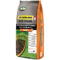 Jardinage Melange 6 en 1 - Engrais+3 types de Semences+Tourbe de coco+Lithothamne. pour reparation pelouse tres abimee - 4kg