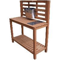 Jardinage Table de plantation pour etagere de jardin - En eucalyptus FSC - 103 x 42 x 120 cm Aucune