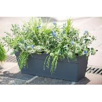 Jardiniere - Pot De Fleur - Cache-pot DEROMA Jardiniere Ninfea a reserve d'eau - 50 x 17.6 x H 17.4 cm - 10.5 L - Gris anthracite