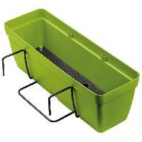 Jardiniere - Pot De Fleur - Cache-pot DEROMA Kit de Jardiniere Enjoy a reserve d'eau - 9.6 L - 50 x 16.1 x H 16 cm - Vert olive