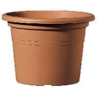 Jardiniere - Pot De Fleur - Cache-pot DEROMA Pot de fleur rond Farnese - O 45 x H 31.4 cm - 29 L - Terre rouge