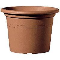 Jardiniere - Pot De Fleur - Cache-pot DEROMA Pot de fleur rond Farnese - O 60 x H 41.8 cm - 69 L - Terre rouge