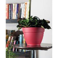 Jardiniere - Pot De Fleur - Cache-pot DEROMA Pot de fleur rond Ninfea a reserve d'eau - O 34 x H 27 cm - 16.5 L - Rouge griotte