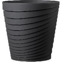Jardiniere - Pot De Fleur - Cache-pot FDEROMA Pot Slinky - 25x25x25 cm - 8.7L - Anthracite