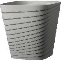 Jardiniere - Pot De Fleur - Cache-pot FDEROMA Pot Slinky - 30x30x30 cm - 17.6L - Ecume