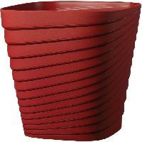 Jardiniere - Pot De Fleur - Cache-pot FDEROMA Pot Slinky Griotte - 30x30x30 - 17.6L - Rouge