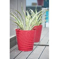 Jardiniere - Pot De Fleur - Cache-pot FDEROMA Pot Slinky Griotte - 35x35x35 - 25 cm - 3L - Rouge