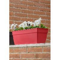 Jardiniere - Pot De Fleur - Cache-pot Jardiniere Ninfea a reserve d'eau - 40x17.6x17.4cm - 8l - Rouge griotte