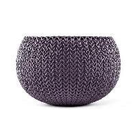 Jardiniere - Pot De Fleur - Cache-pot Pot de fleur aspect tricot 28cm - Violet