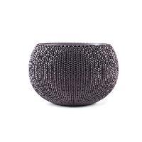Jardiniere - Pot De Fleur - Cache-pot Pot de fleur aspect tricot 36cm - Violet