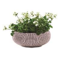 Jardiniere - Pot De Fleur - Cache-pot Pot de fleur aspect tricot 54cm - Mauve