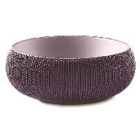 Jardiniere - Pot De Fleur - Cache-pot Pot de fleur aspect tricot 54cm - Violet