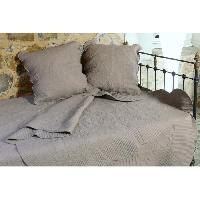 Jetee De Lit - Boutis - Couvre-lit Courtepointe coton Byzance - 150x150cm - Taupe