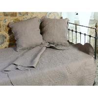 Jetee De Lit - Boutis - Couvre-lit Couvre-lit Boutis coton Byzance - 230x250cm - Taupe