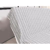 Jetee De Lit - Boutis - Couvre-lit Jete de canape cotonnade - 170x250 cm - Gris clair