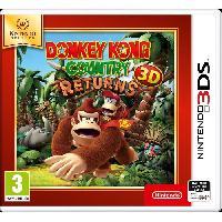 Jeu 3ds Donkey Kong Country Returns 3DS Jeu Nintendo Selects