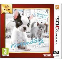 Jeu 3ds Nintendogs + Cats Bouledogue Jeux Selects 3DS
