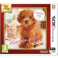 Jeu 3ds Nintendogs + Cats Caniche Jeux Selects 3DS