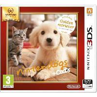 Jeu 3ds Nintendogs + Cats Golden Jeux Selects 3DS