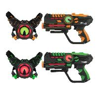 Jeu D'adresse DARPEJE Laser Battle - Set 2 joueurs équipe vert/orange - D'arpeje Outdoor