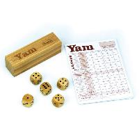 Jeu D'adresse JEUJURA Jeu de yam : Coffret en bois et bloc de yam
