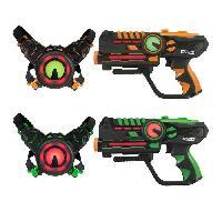 Jeu D'adresse Laser Battle - Set 2 joueurs equipe vert orange