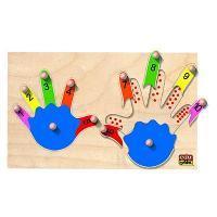 Jeu D'apprentissage Jeu d'encastrement Les deux mains - Mixte - Livre a l'unite