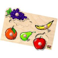 Jeu D'apprentissage Les fruits - Jeu d'encastrement