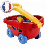 Jeu D'assemblage - De Construction - Manipulation ABRICK Chariot a Tirer 40 pcs - Ecoiffier