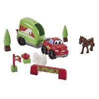 Jeu D'assemblage - De Construction - Manipulation ABRICK Van equestre Fast Car - Ecoiffier