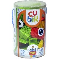 Jeu D'assemblage - De Construction - Manipulation CUBIK Tube construction personnage briques a picots - 50 pieces - Aucune