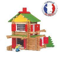 Jeu D'assemblage - De Construction - Manipulation JEUJURA Mon Chalet en Bois 135 pieces